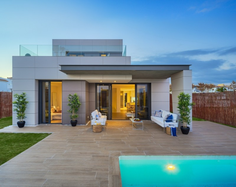 Fachada-Sur-Chalet-Green-Homes-Torre-del-Mar-Costa-del-Sol
