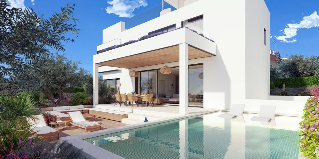 Casa 1 con piscina