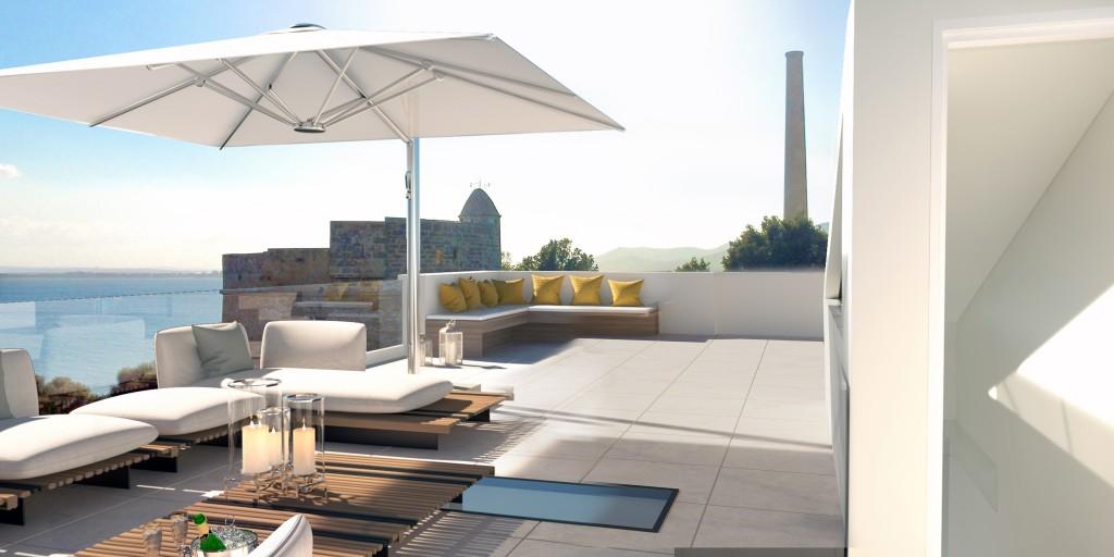 terraza casa A sin jacuzzi y cocina outdoor