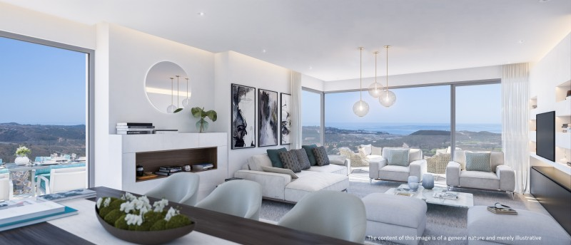 ONE RESIDENCES - Penthouse Living Room Disclaimer