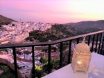 roof terrace with sea sunset views