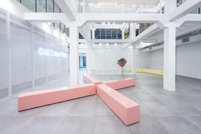 Guccivuitton, Installation view, 2015. Courtesy of Guccivuitton and ICA Miami. Photo: Studio LHOOQ