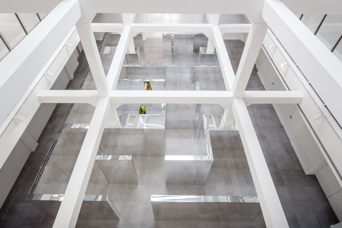 Installation view, John Miller Maze, I Stand, I Fall at ICA Miami, 2016