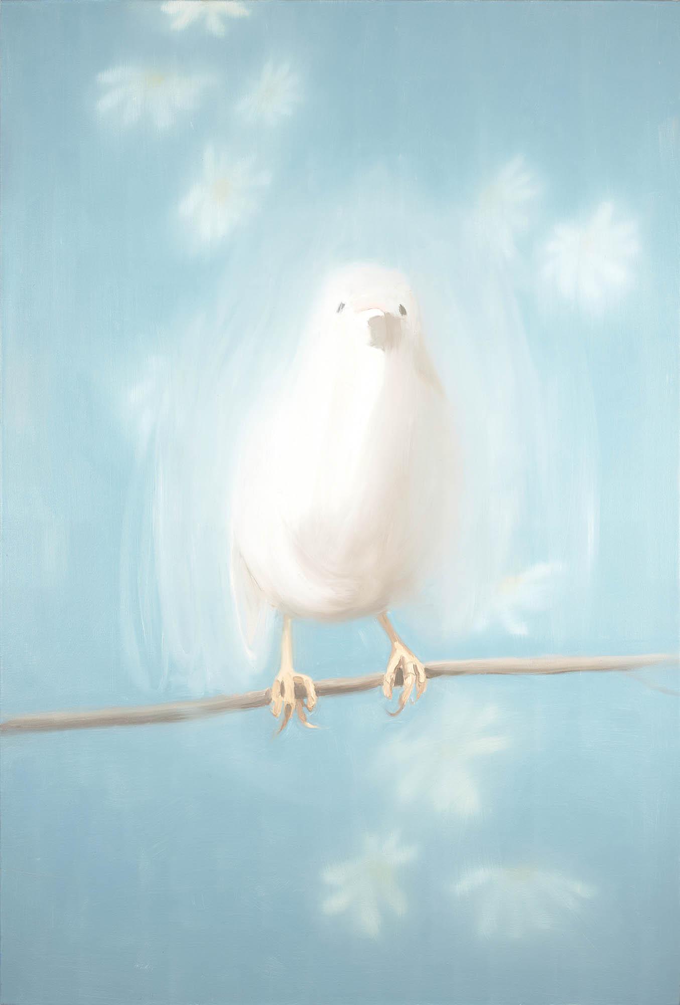 Image of Ann Craven, Bird in White (for Johnny Cash) (White Bird #1), 1998