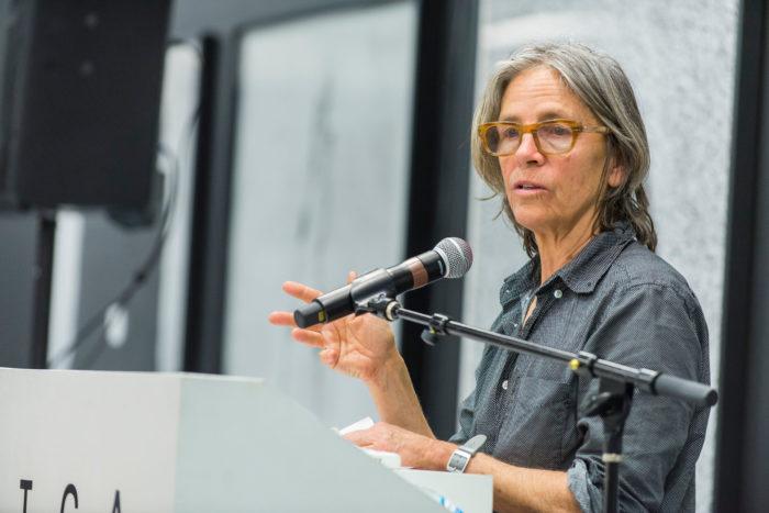 Eileen Myles at ICA Ideas. Photo: Alex Markow.