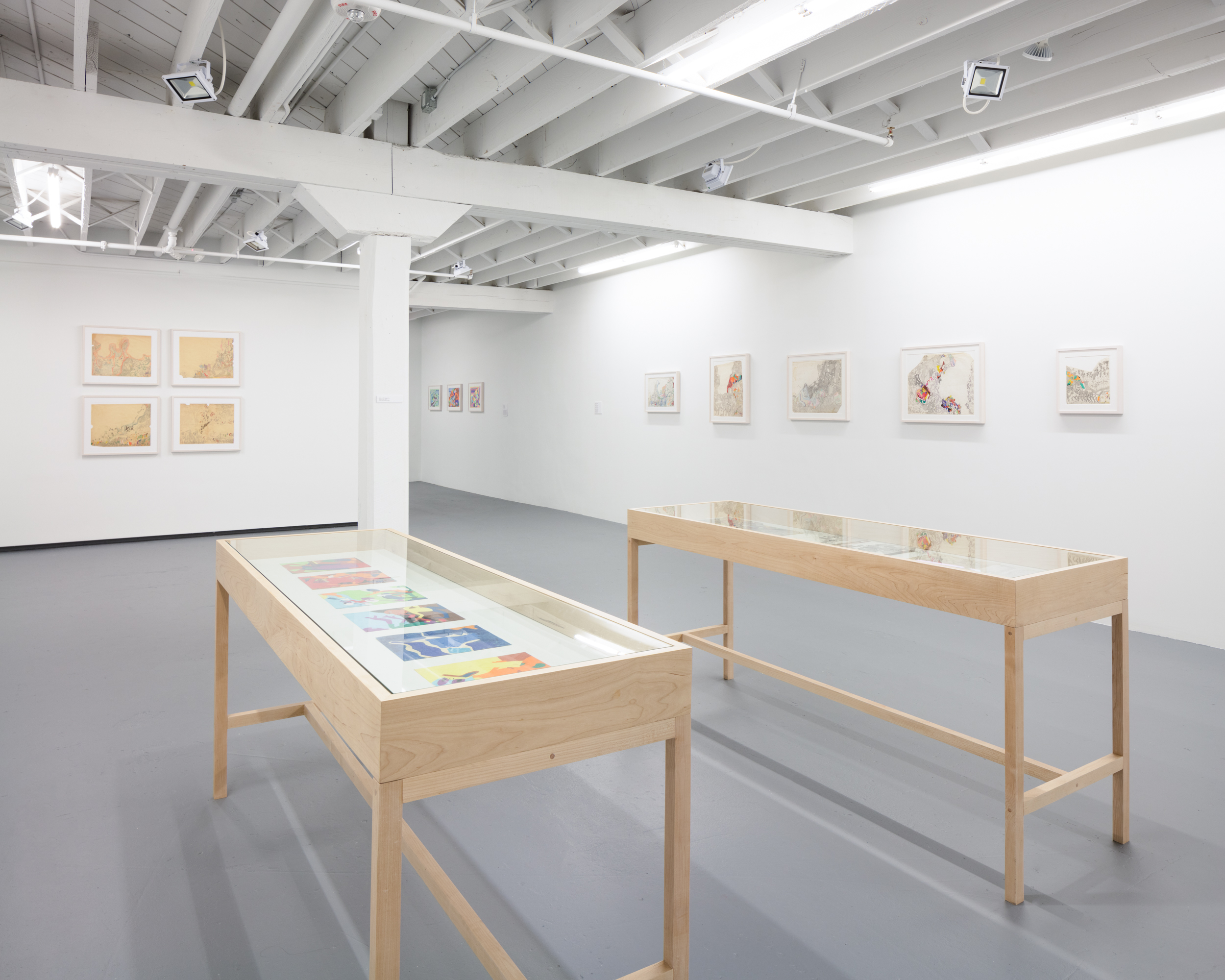 Installation view of Susan Te Kahurangi King at Institute of Contemporary Art, Miami