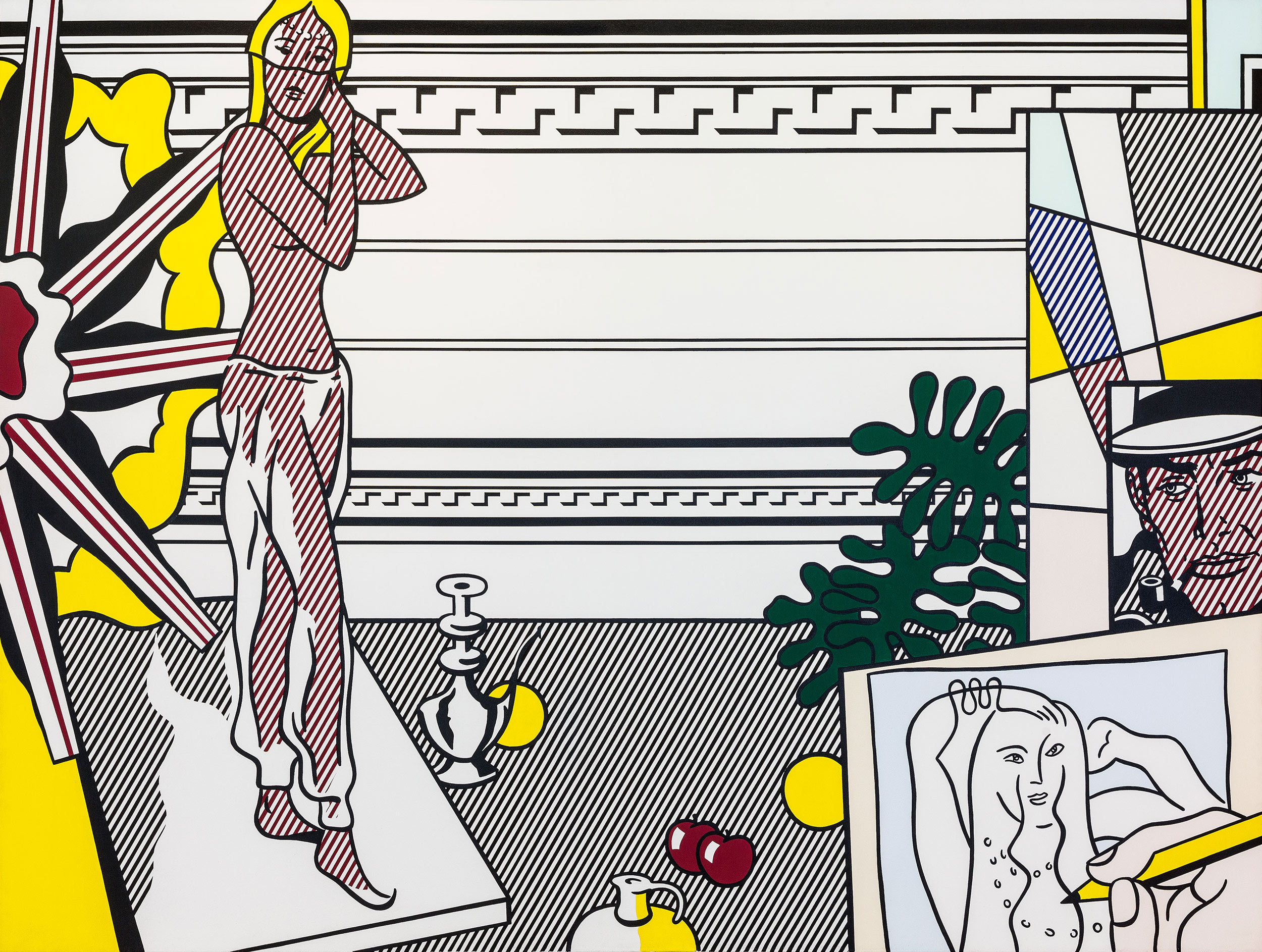 Image of artwork by Roy Lichtenstein, Artist's Studio with Model, 1974
