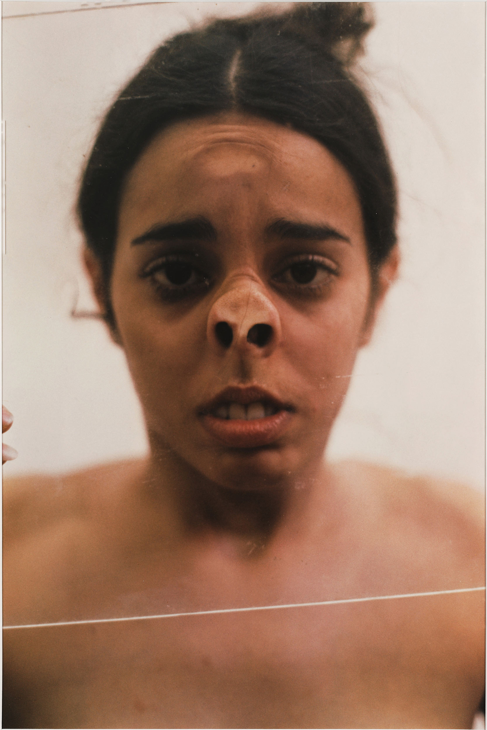 Ana Mendieta, Untitled (Glass on Face), 1972.