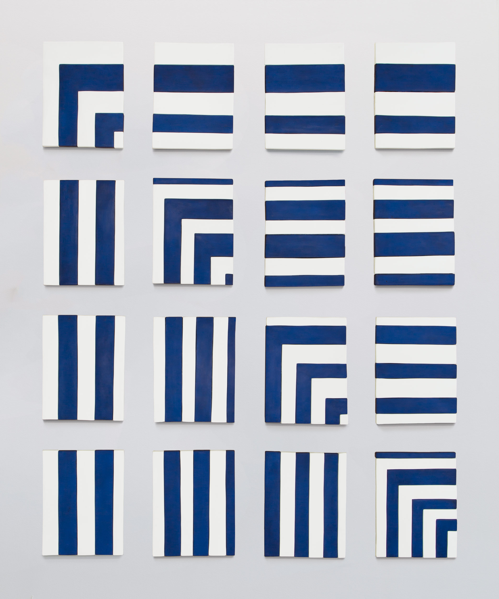 Image of Sadie Benning, Blue and White Painting Sequence, 2013