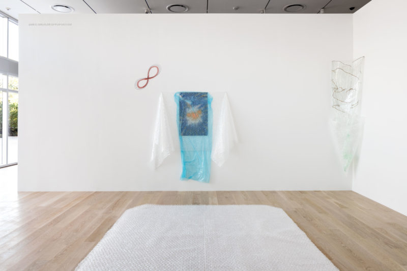 Senga Nengudi, Wet Night — Early Dawn — Scat Chat — Pilgrim's Song, 1996/2017. Mixed media. Courtesy the artist, Levy Gorvy, and Thomas Erben Gallery, New York. Photo: Fredrik Nilsen Studio