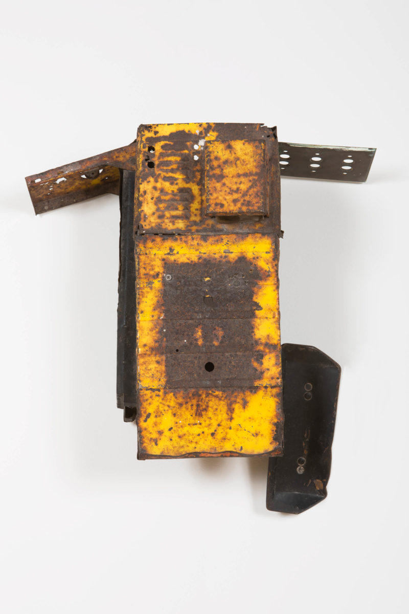 Terry Adkins, Greater Deeps (from Firmament RHA), 1995. Tin, wood. Courtesy Lévy Gorvy. © The Estate of Terry Adkins, New York.
