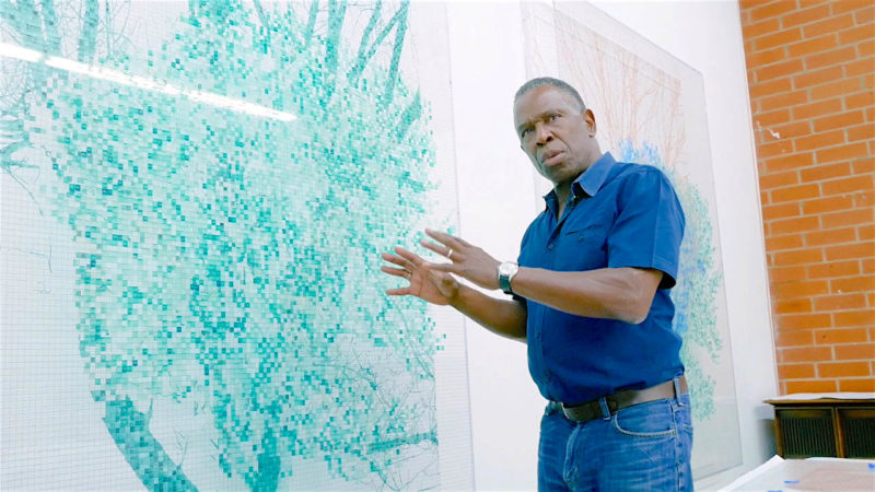 Charles Gaines at ICA Miami. Image courtesy of Wet Heat Projects.