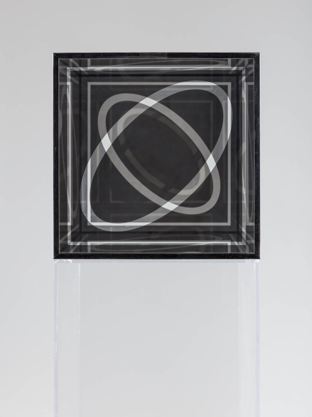 Photo of Larry Bell, Untitled (Cube 12