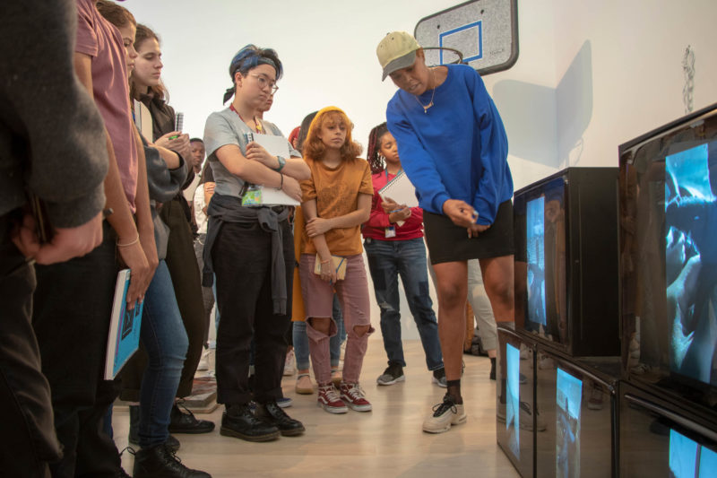 Diamond Stingily with Young Artists Initiative at ICA Miami. Photo: Kali Kahn.