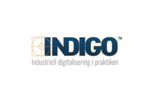 INDIGO logotyp vit