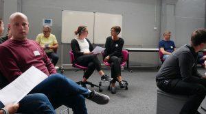 Deltagare på fokusträff situationsanpassat ledarskap.