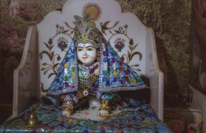 Baby deity of Srimati Radharani at Raval