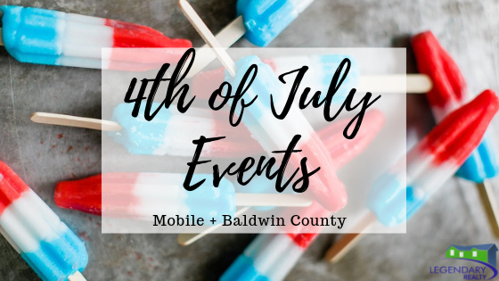 4th of July Activities in Mobile and Baldwin County Alabama 2019