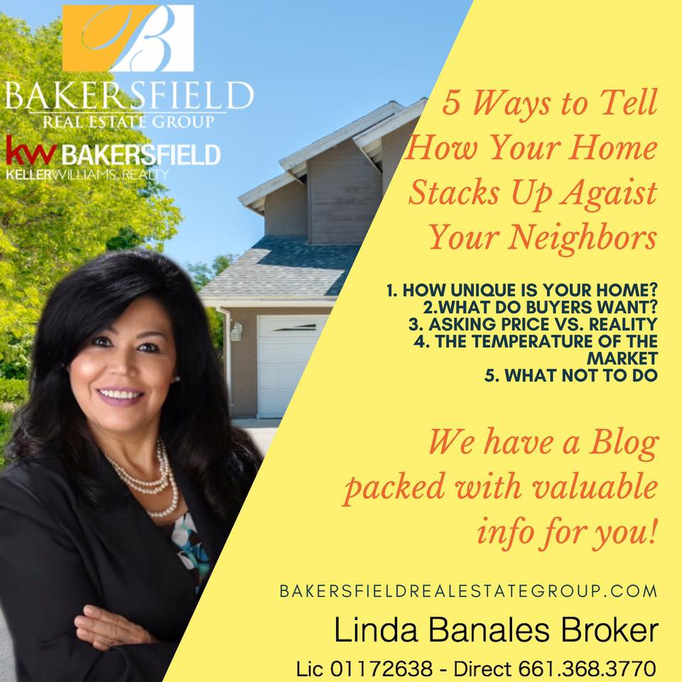 HOme Seller Tips from Your Bakersfield Local Real Estate Expert - Linda Banales 661-704-4244