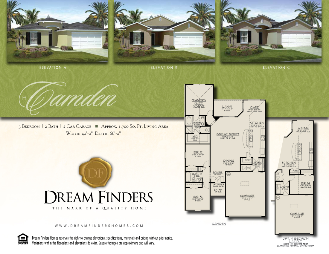 Dream finders homes floor plans - Dream home floor plan model ...