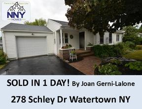 Watertown NY Single Family Home Sold: $152,000