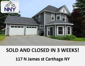 Carthage NY Single Family Home Sold: $158,000