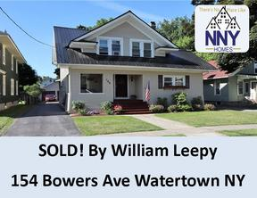 Watertown  NY Single Family Home Sold: $199,900
