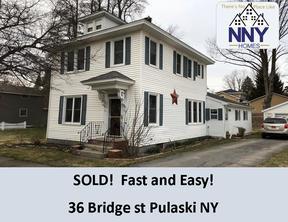 Pulaski NY Single Family Home Sold: $132,000
