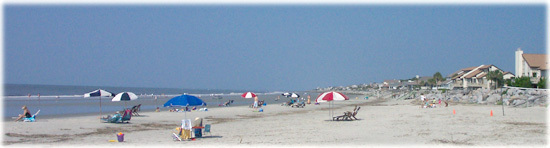Image of beach at Fripp Island looking south from the Beach Club