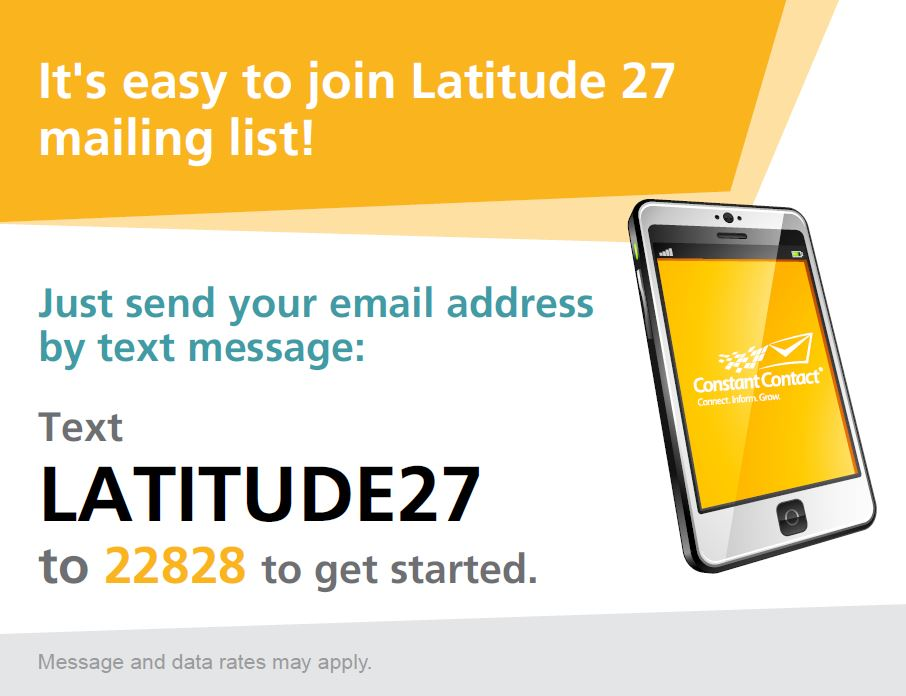 Text LATITUDE27 to 22828