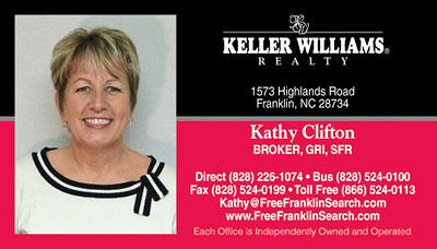 Kathy Clifton Business Card