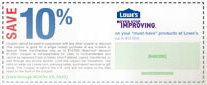 Sample Coupon 10% Off Lowe's Home Improvement