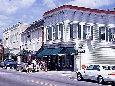 Bay Street in downtown Beaufort SC