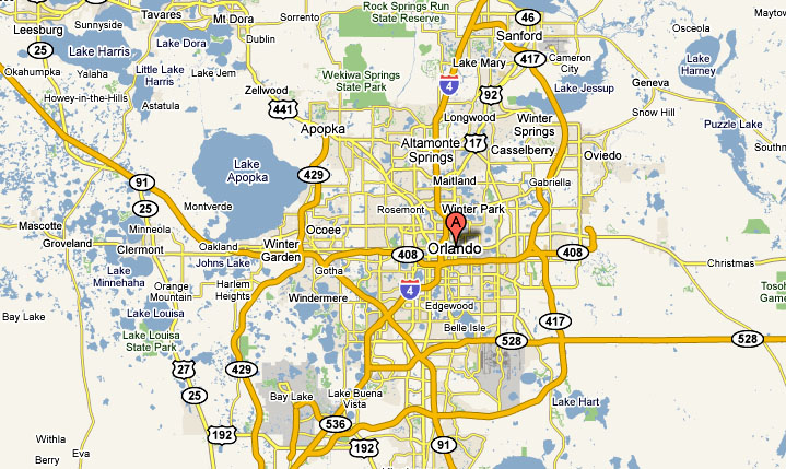Orlando Map | Lake Mary Real Estate