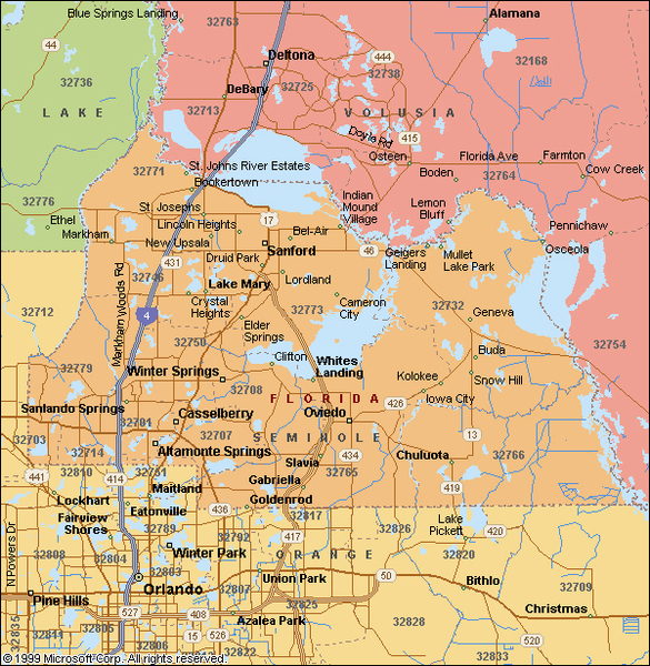 Seminole County Map | Lake Mary Real Estate
