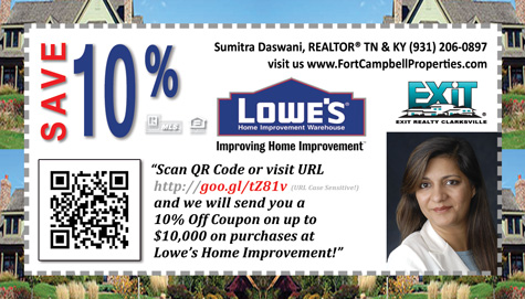 Request your 10% OFF Coupon from Lowe's Home Improvement on Purchases up to $10,000