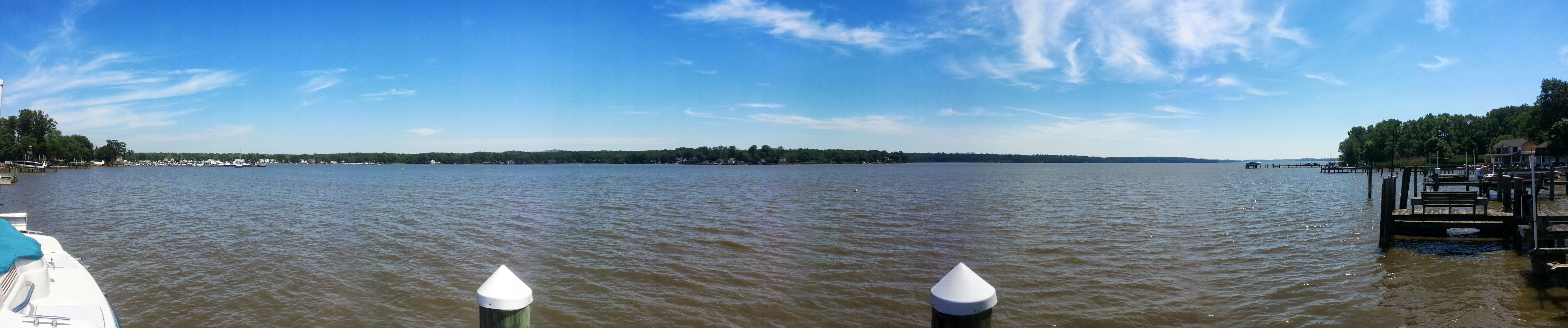 84 Crescent Ln Elkton MD Waterfront Home - View from Pier