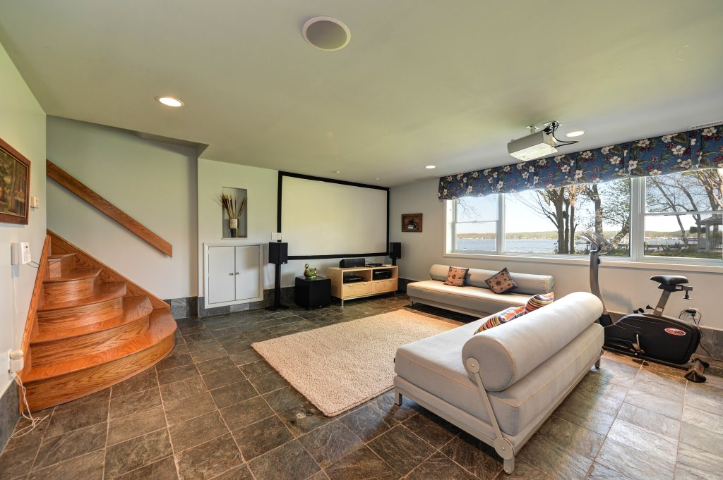 46 Plum Shore Rd North East MD Waterfront Home for Sale - Theater Room