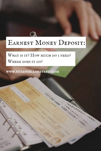When buying a Lake Havasu home, you may need to include an earnest money deposit with your offer? But what is it? How much will you need? And where does it go?
