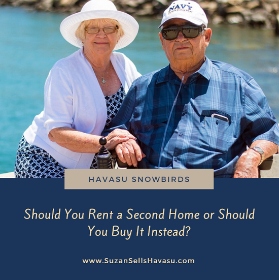 For Havasu snowbirds, when is it a good idea to rent and when should you buy a second home here instead? It all depends on your situation.