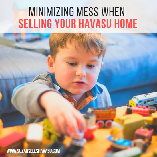 Kids create mess. It's inevitable. But messy houses don't sell. Therefore, minimizing messes should be at the top of your priority list if you want to sell your Havasu home.
