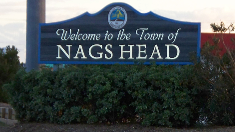 Nags Head Welcom Sign