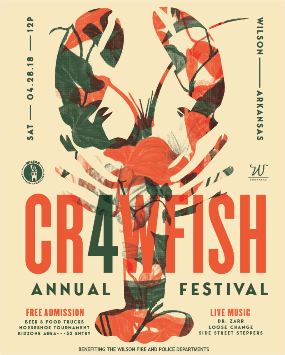 Crawfish Music Festival Flyer