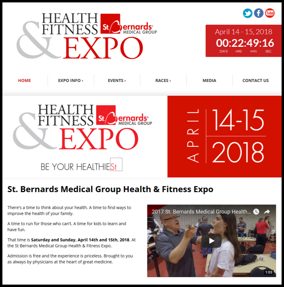 St. Bernard's Health and Fitness Expo Flyer
