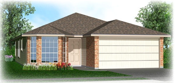 Killeen TX Homes DR Horton Dominion Floor Plan Elevation K