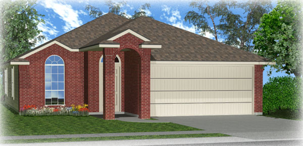 Killeen TX Homes DR Horton Dominion Floor Plan Elevation L