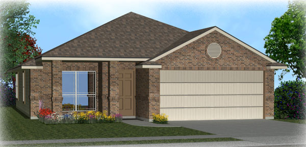 Killeen TX Homes DR Horton Dominion Floor Plan Elevation M