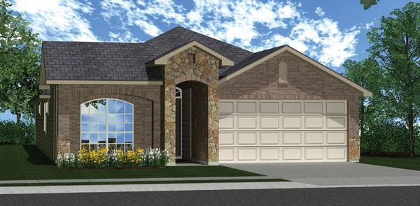 Killeen TX Homes DR Horton Roosevelt Elevation W