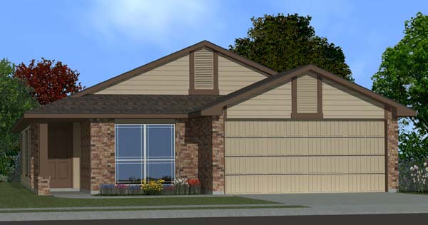 Killeen TX Homes DR Horton Rosewood Plan Elevation L