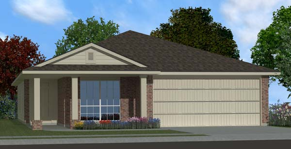 Killeen TX Homes DR Horton Rosewood Plan Elevation M